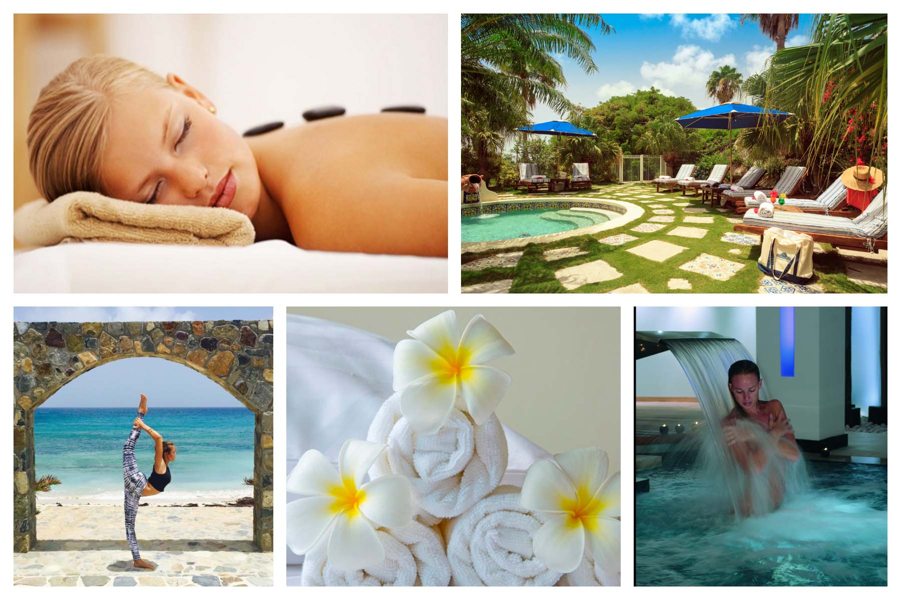 St Maarten/St Martin 2019/2020 - Wellness and Beauty: Spa, Massage, Hairdresser, Yoga, Pedicure, Manicure, Natural Products, Make Perfume, Body treatment, Facial Treatment, Acupuncture, Organic products.