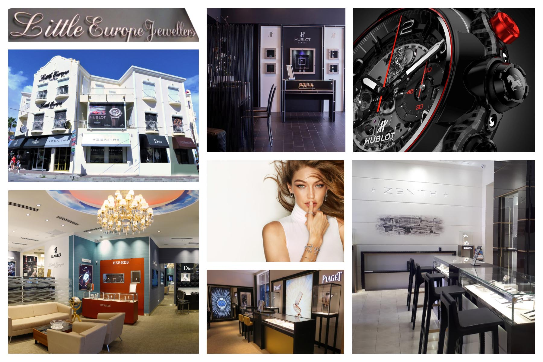 Little Europe St. Maarten - St. Martin - SXM - Products - Jewelry and Watches - Hublot - Zenith - Messika - Piaget - Hermes - Djula - Tous