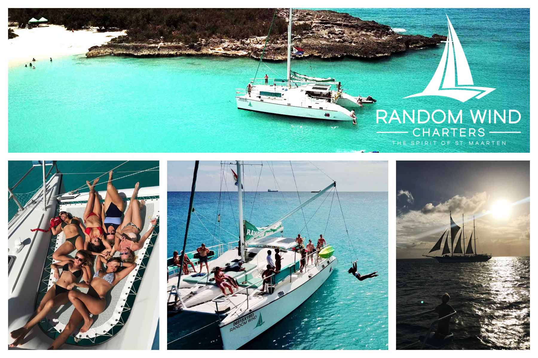 Random Wind - Luxury Catamaran charter - Family friendly, high quality food and top shelf drinks! We Are SXM - Watersports