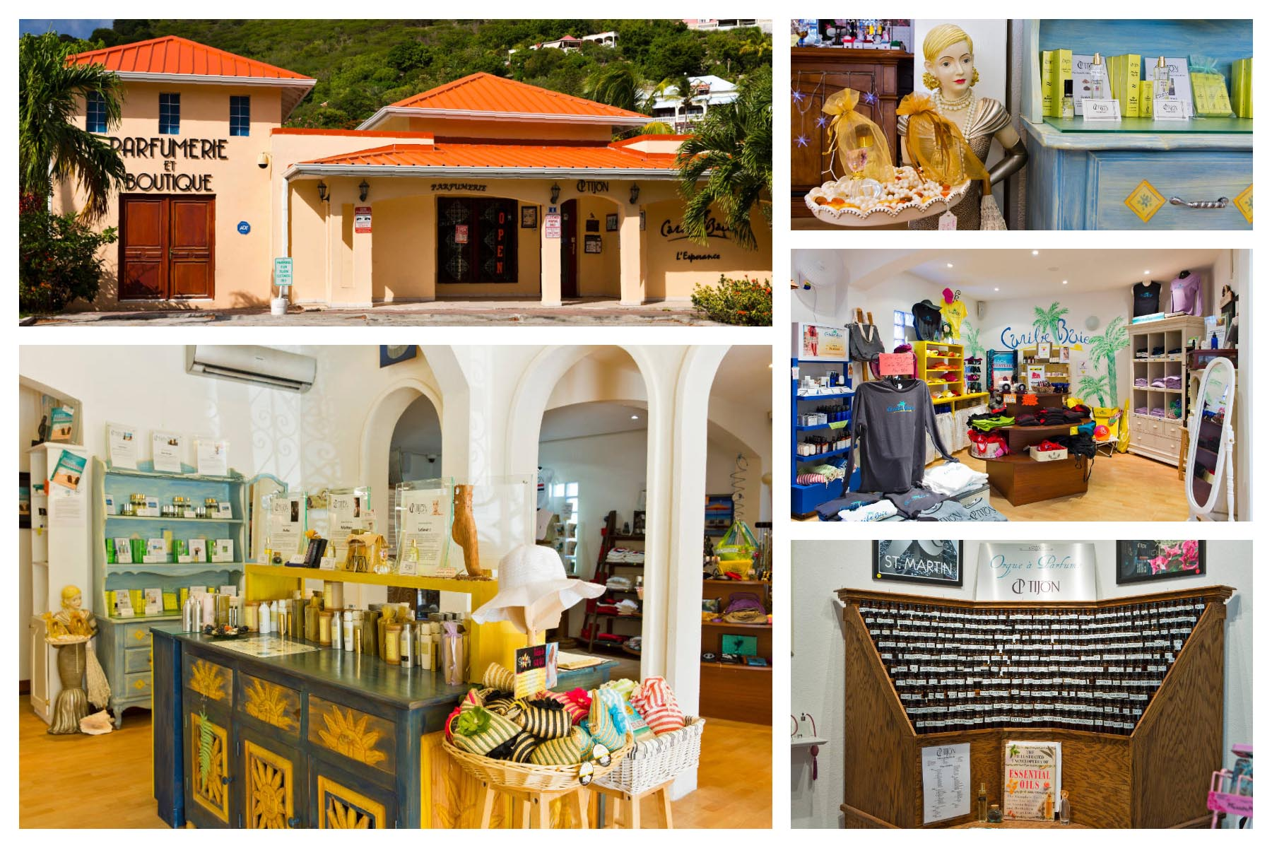 Tijon Perfumes - St. Martin / St. Maarten - Grand Case - Make your own perfume, boutique store, souvernirs, perfumes, jewelry.
