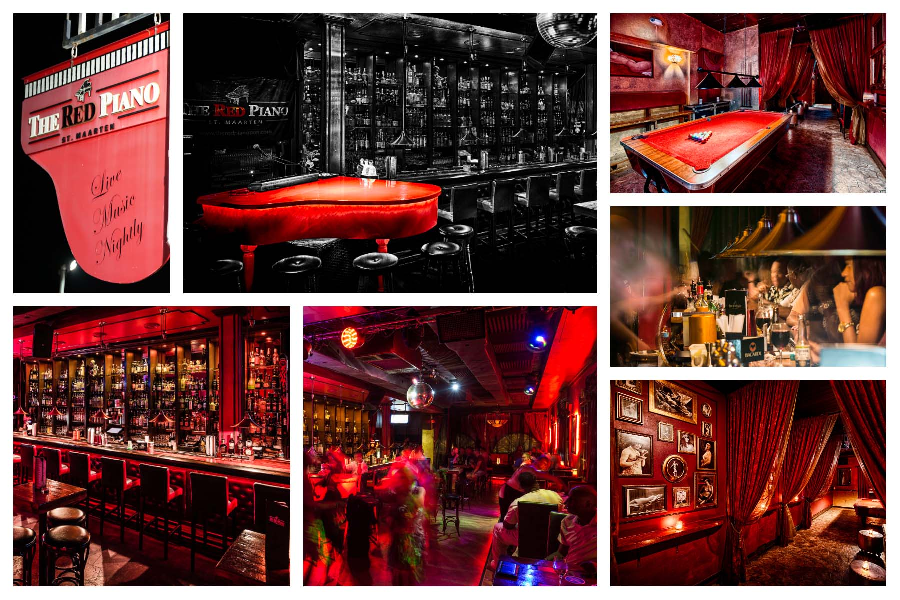 Red Piano SXM: Service & Entertainment - Best live music venue, best piano bar, best pool room. Largest selection of spirits.
