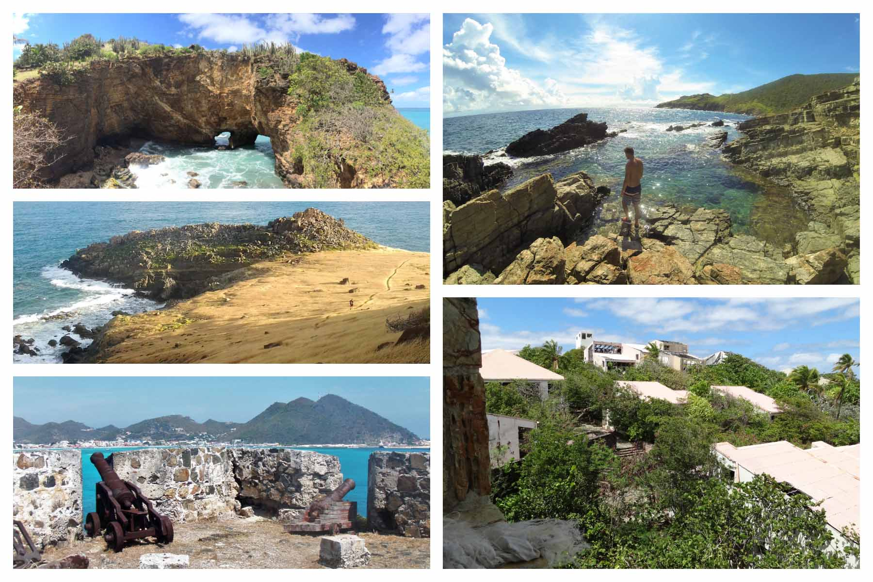Hard to find places St Maarten-St Martin: La Belle Creole, Natural Pool, Wildernis, David's Hole, Fort Amsterdam, Fort Louis, Lovers Beach, Pic Paradis, Pinel Island.